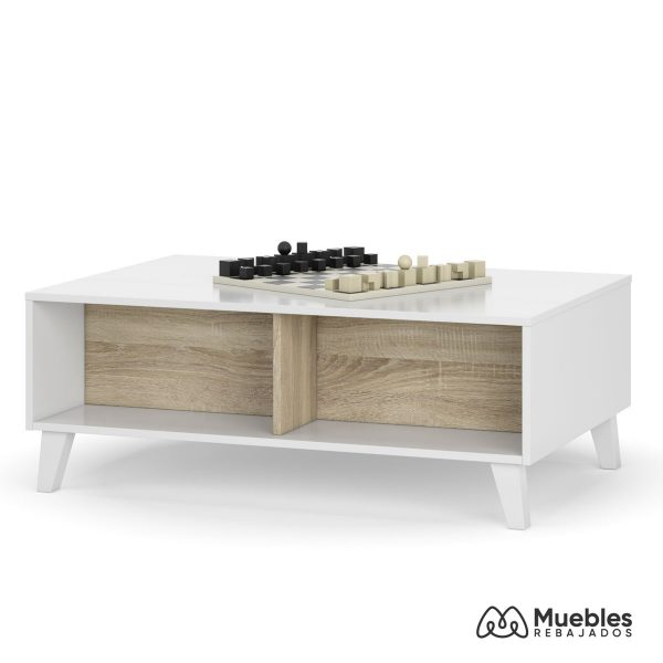mesa centro de madera blanca elevable 0f6633bo