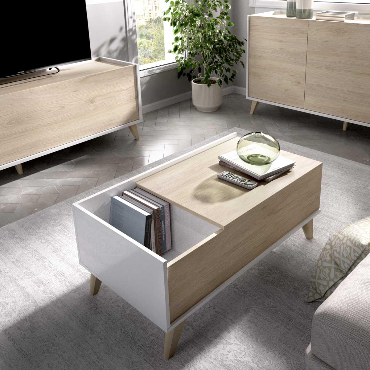 mesa centro elevable con hueco 3