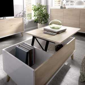 mesa centro elevable con hueco 4
