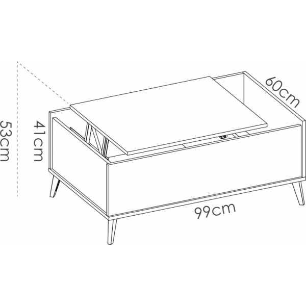mesa centro elevable con hueco 5
