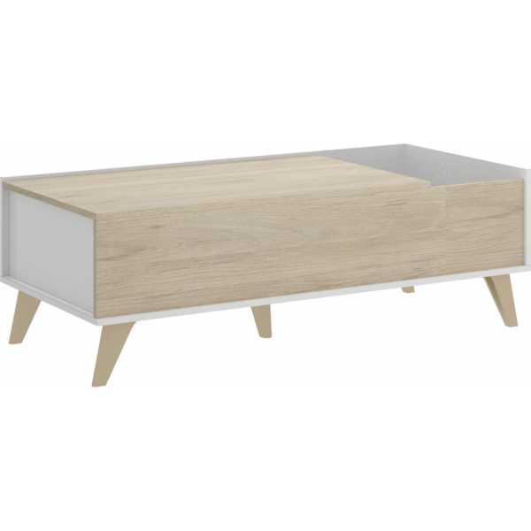 mesa centro elevable con hueco