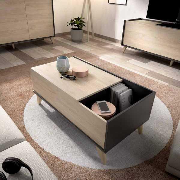 mesa centro elevable grafito