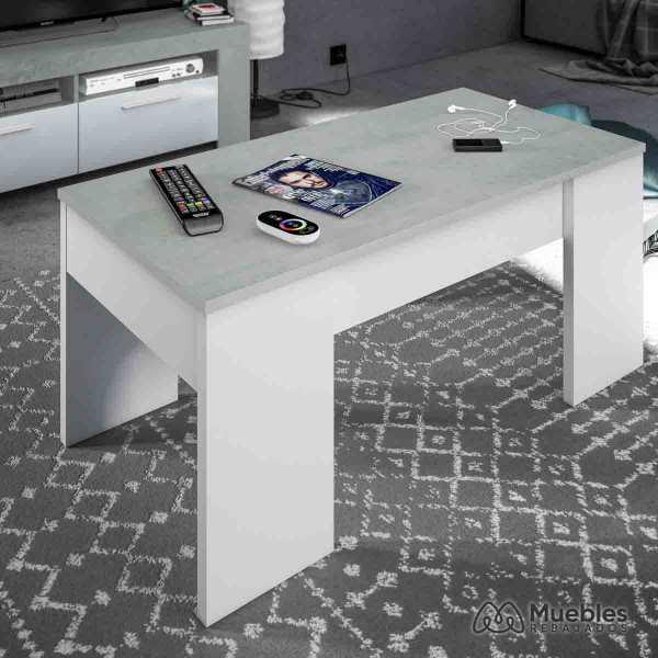 mesa centro elevable gris 0l1640a