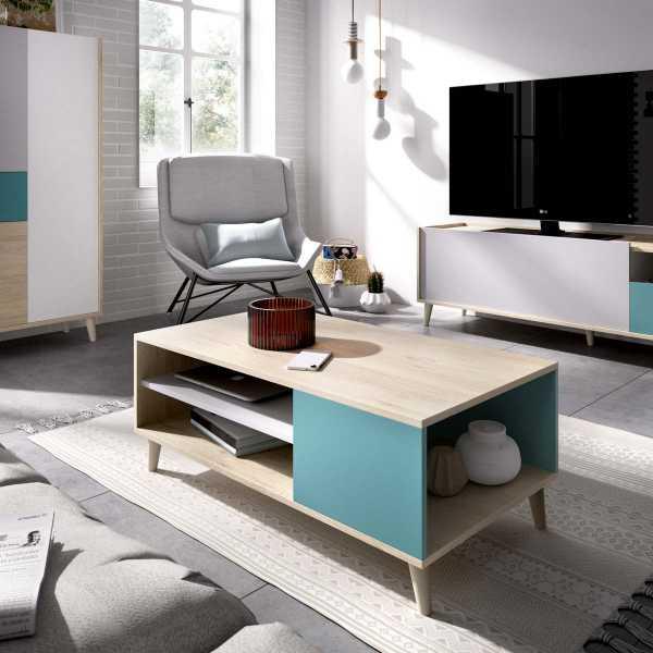 mesa centro multicolor