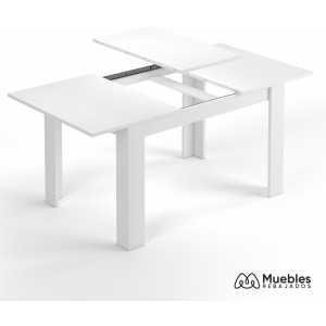 mesa comedor de madera extensible blanca 004586bo
