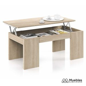 mesa de centro diseño color roble 001637f