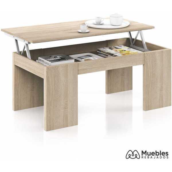 mesa de centro diseño color roble 001637f