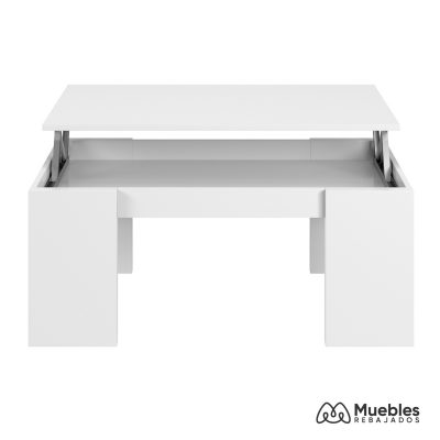 Mesa de centro elevable blanco brillo 001637bo