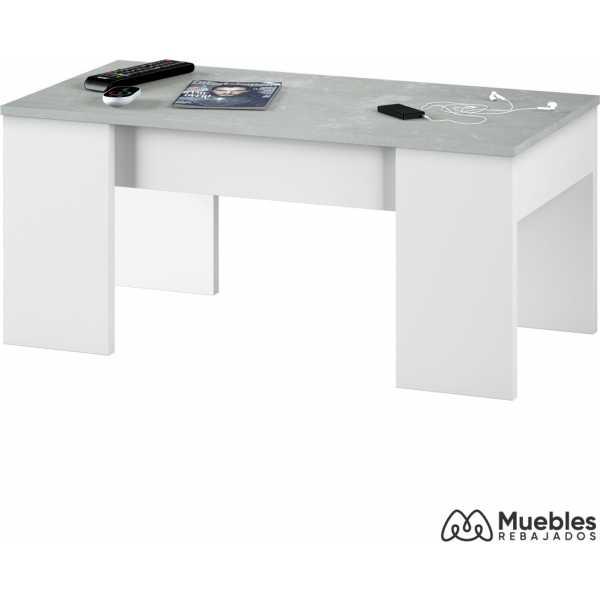 mesa de centro moderna color cemento 0l1640a