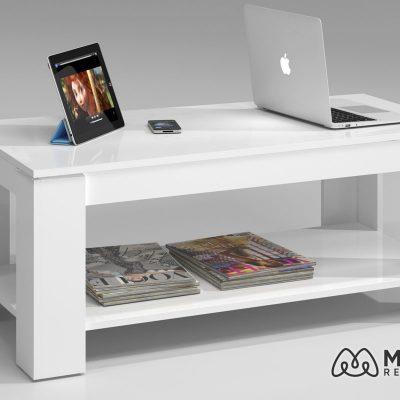 mesa de centro pequeña con balda 001639a