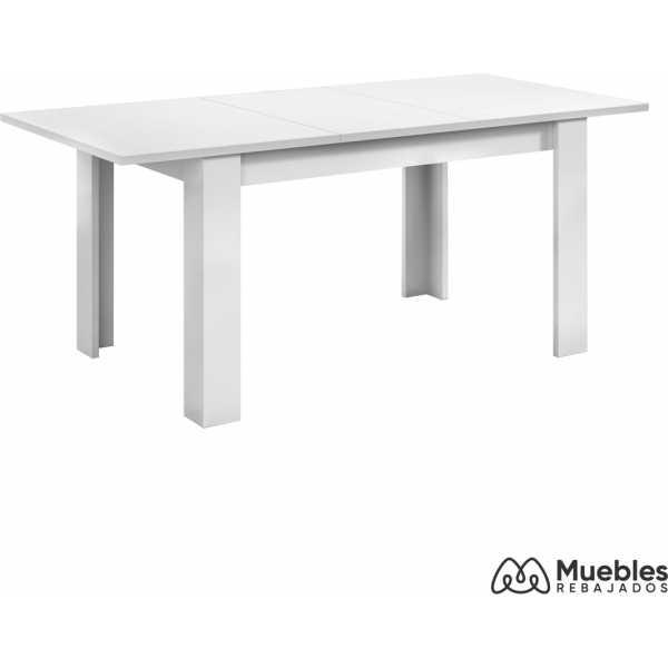 mesa de comedor blanca extensible 004586a