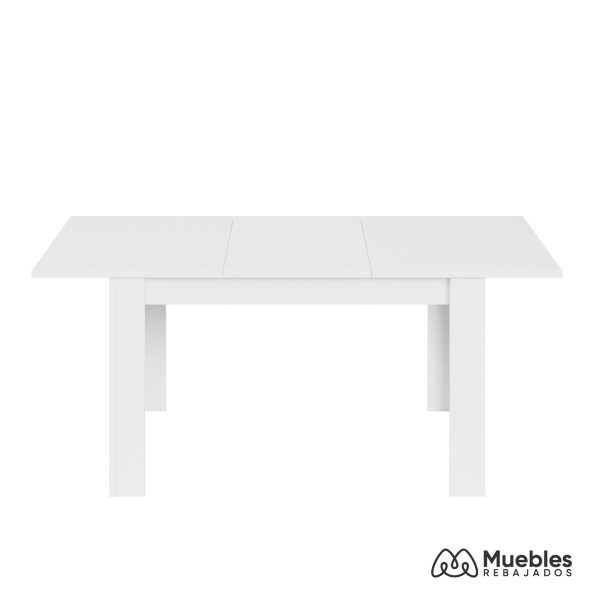 mesa de comedor blanca extensible 140x190 004586a