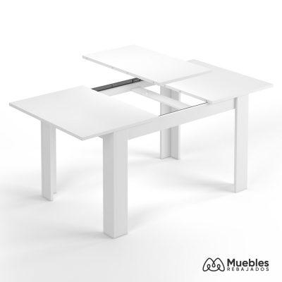 mesa de comedor blanca extensible 190cm 004586a
