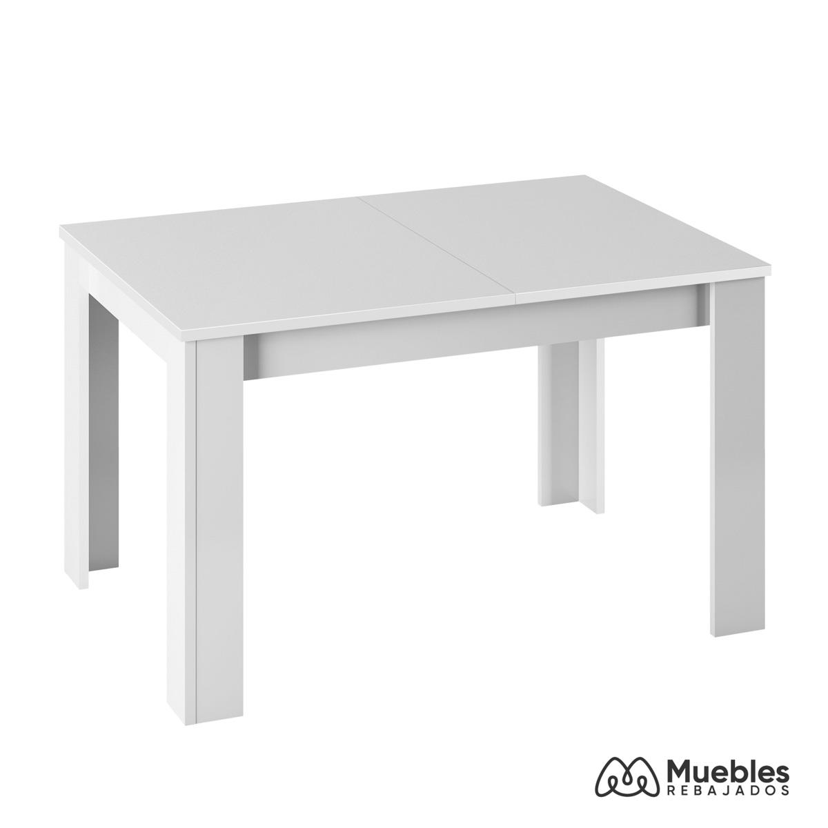 Mesa de comedor blanca madera 004586a