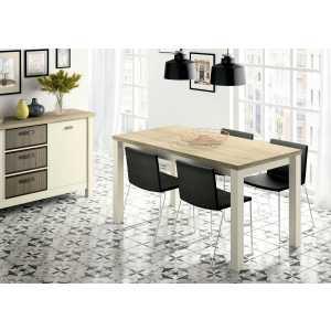 mesa de comedor patas blancas 674