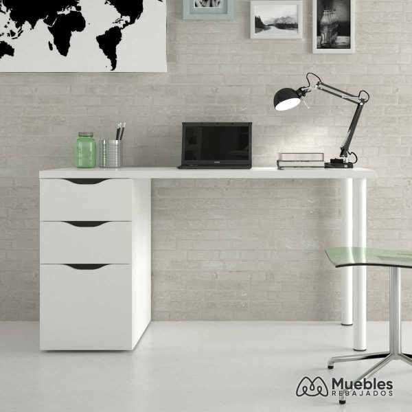 mesa de escritorio blanca reversible 004604a
