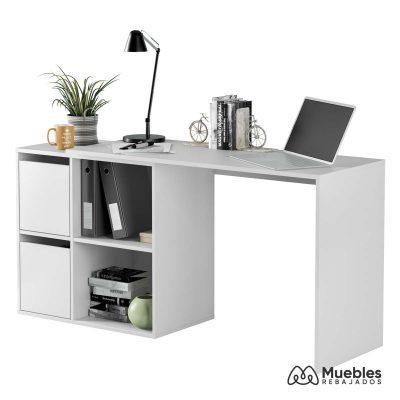 mesa de oficina barata blanca 008311a