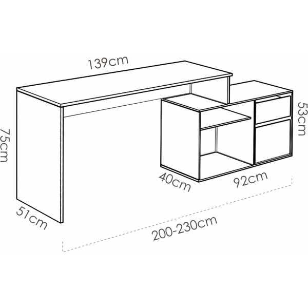 mesa escritorio blanco en forma de l 1