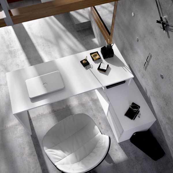 mesa escritorio blanco en forma de l 2