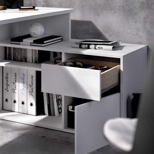 mesa escritorio blanco en forma de l 3