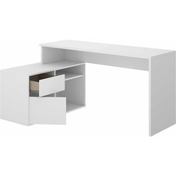 mesa escritorio blanco en forma de l 5