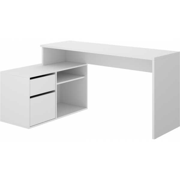 mesa escritorio blanco en forma de l 6