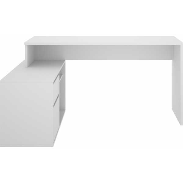 mesa escritorio blanco en forma de l 7