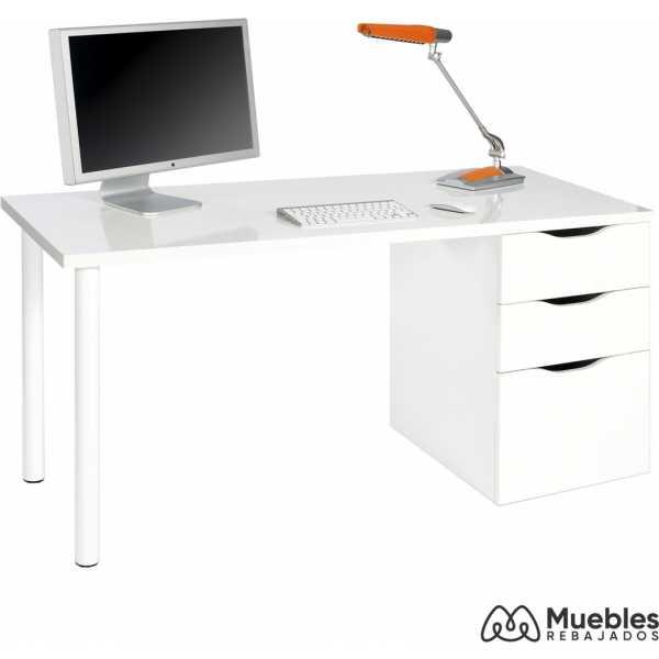mesa escritorio blanco reversible 004604a