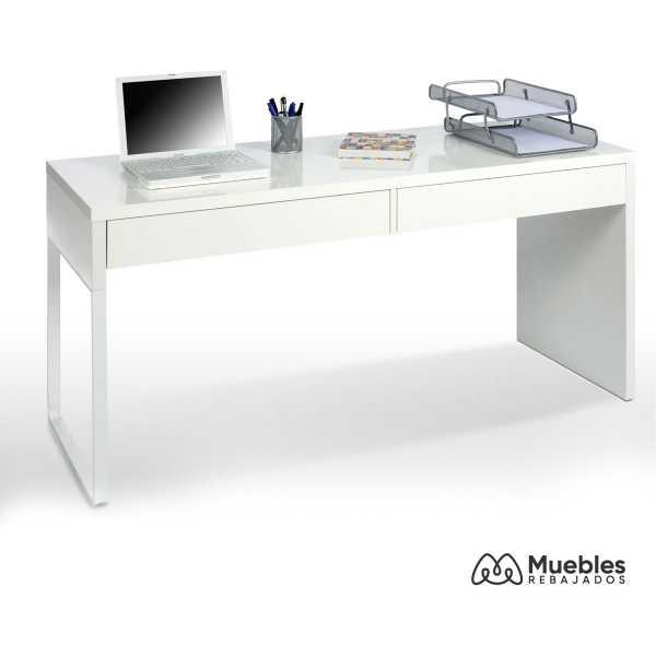 mesa escritorio con cajonera blanca 002315a