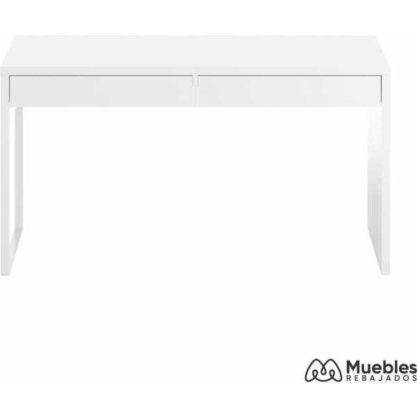 mesa escritorio con cajonera blanco brillo 002315a