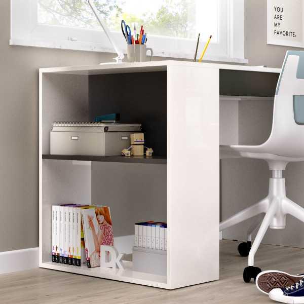 mesa escritorio con estante y 1 cajon 1