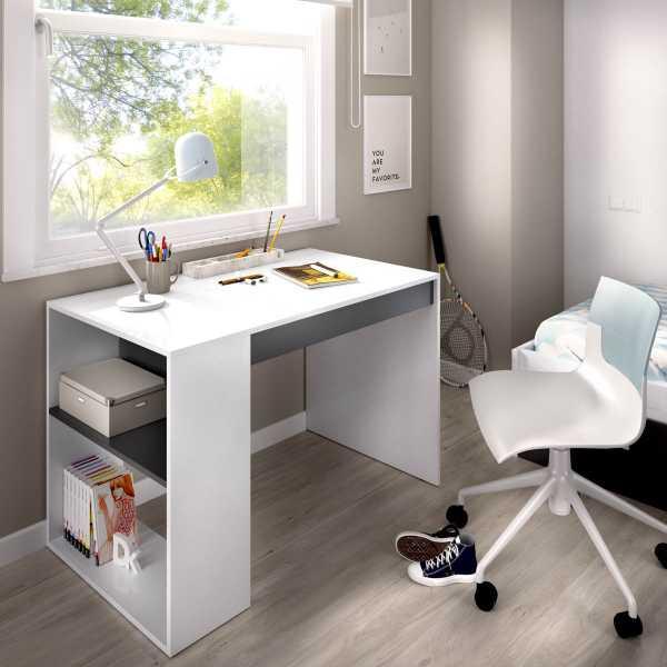 mesa escritorio con estante y 1 cajon 2