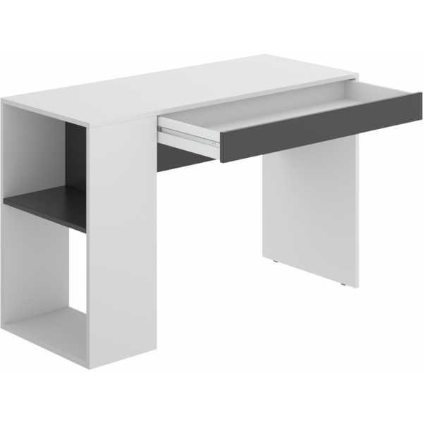 mesa escritorio con estante y 1 cajon 3