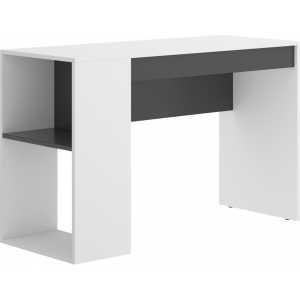 mesa escritorio con estante y 1 cajon 4