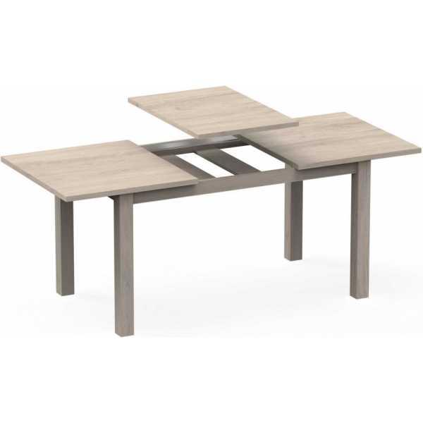 mesa extensible abierta