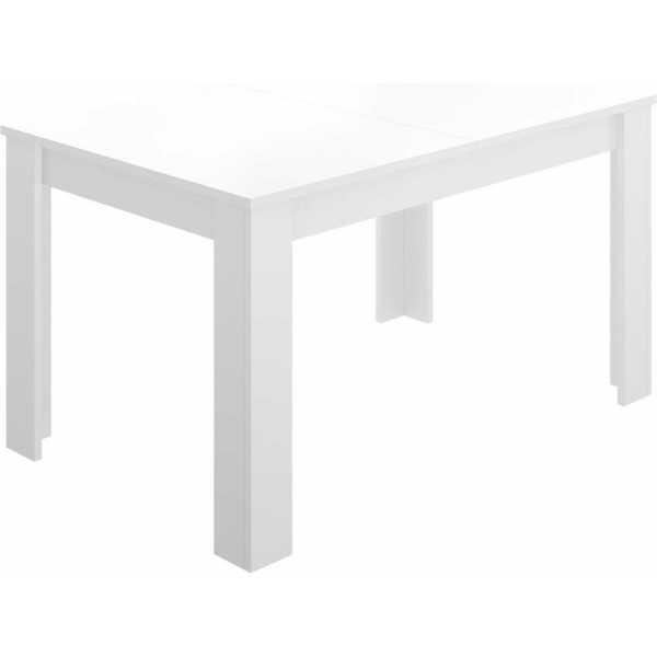 mesa extensible blanco brillo de comedor 140 190 cm 1