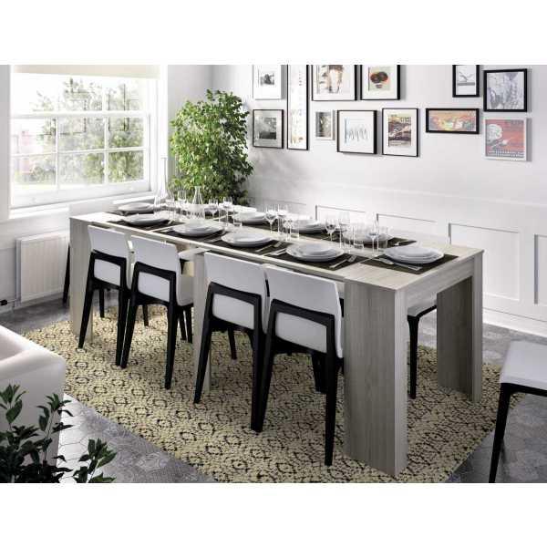 mesa extensible gris con 5 posiciones 1