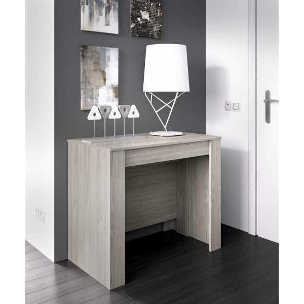 mesa extensible gris con 5 posiciones 4