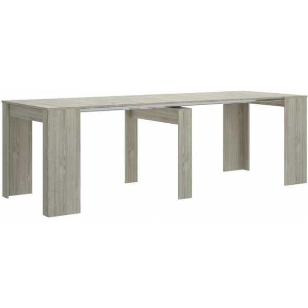 mesa extensible gris con 5 posiciones 5