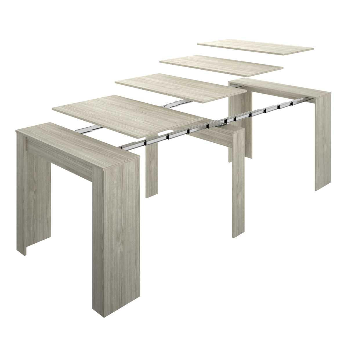 mesa extensible gris con 5 posiciones 6