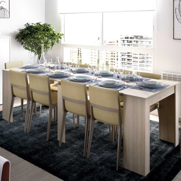 mesa extensible madera 5 posiciones 2
