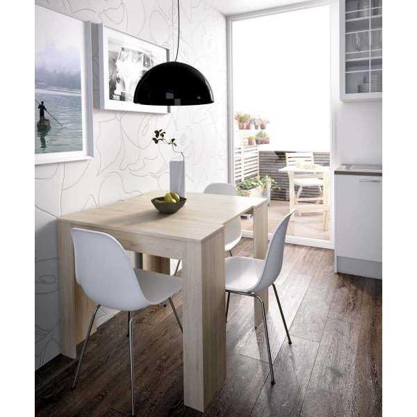 mesa extensible madera 5 posiciones
