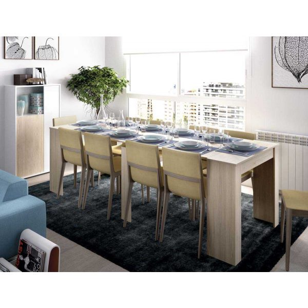 mesa extensible madera 5 posiciones 8