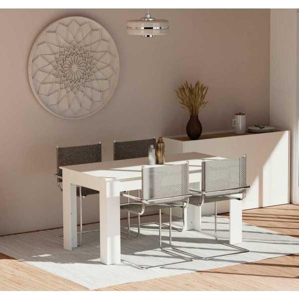 mesa fija blanca
