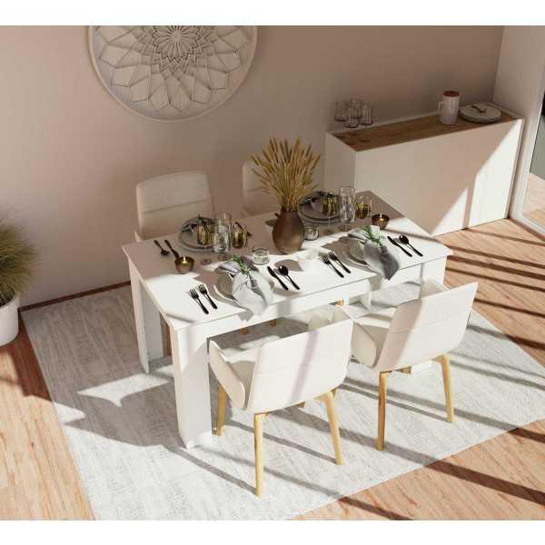 mesa fija despacho blanca