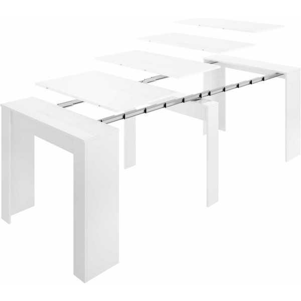 mesa multifuncional blanco brillo 5