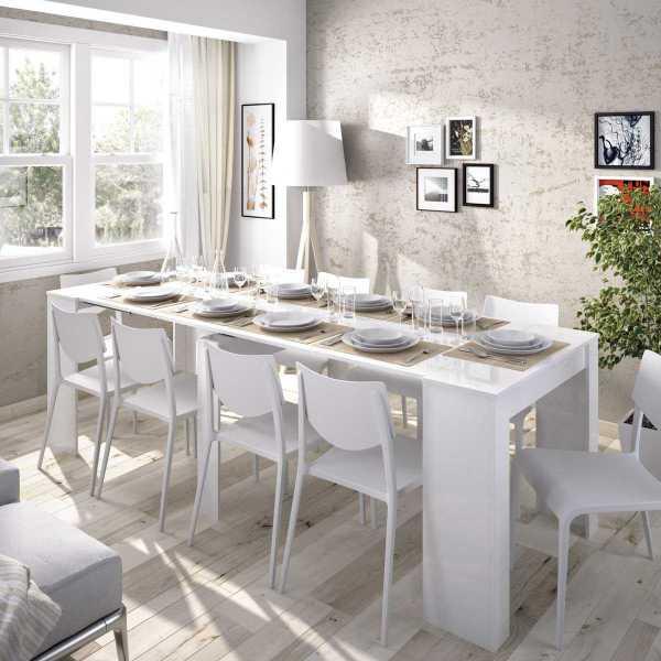 mesa multifuncional blanco brillo