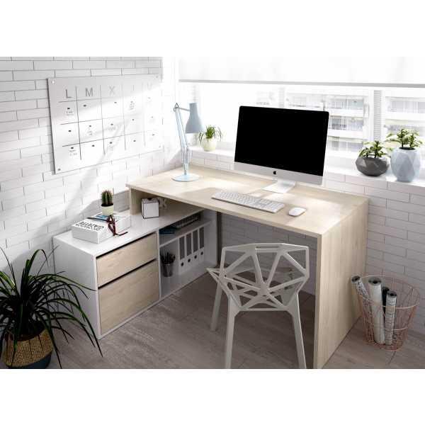 mesa oficina blanco natural 2