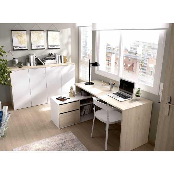 mesa oficina blanco natural 3
