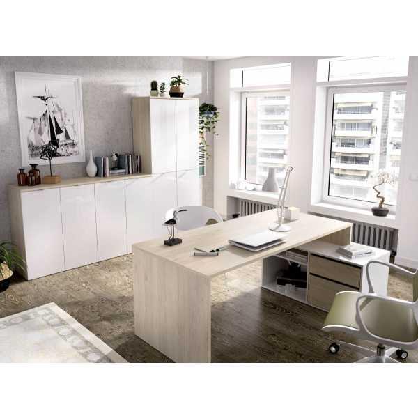 mesa oficina blanco natural 4
